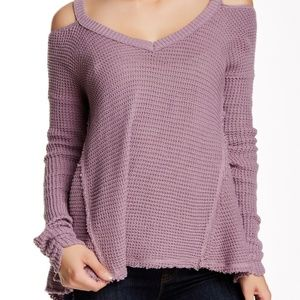 Free People Purple Moonshine V-Neck Sweater